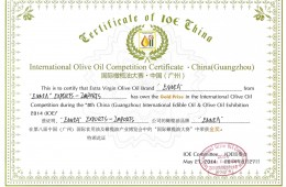 2014 – Golden Prize, China International Competition