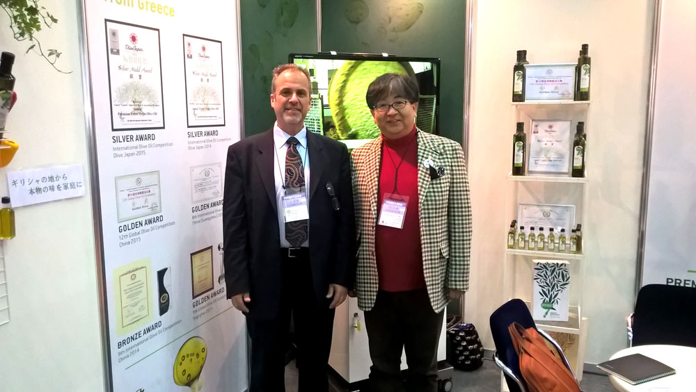 Elias Nikolaou, Ennea CEO and Mr Toshiya Tada, Chairman of Olive Oil Sommelier Association of Japan