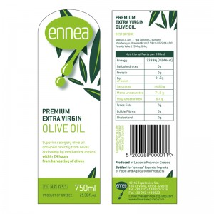 Ennea Extra Virgin Olive Oil Label